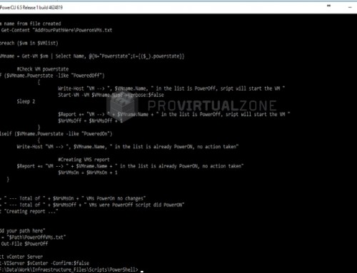 PowerCli: Create Script file to PoweredOn/PoweredOff all VMs