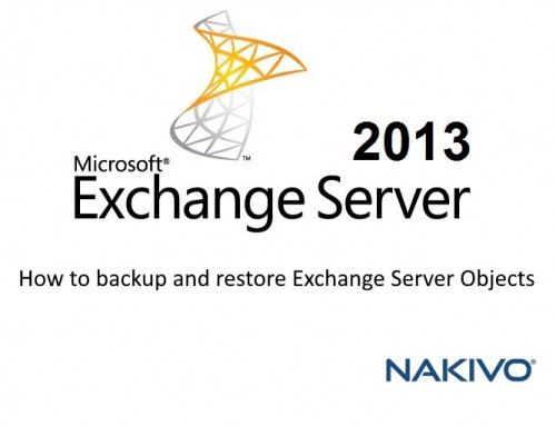 How to backup and restore Exchange Server Objects