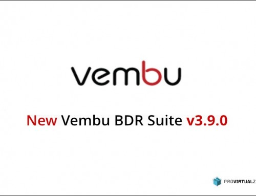 Vembu BDR Suite v3.9.0 – Generally Available launched