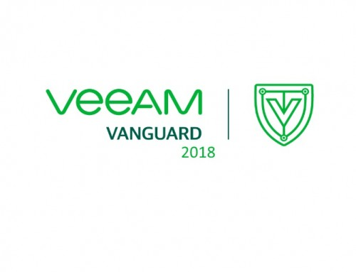 Selected as a Veeam Vanguard 2018