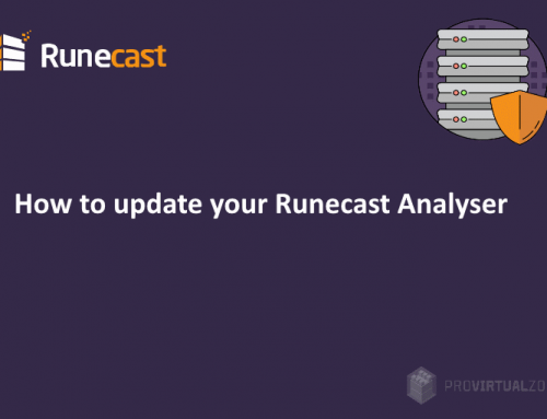 How to update your Runecast Analyzer
