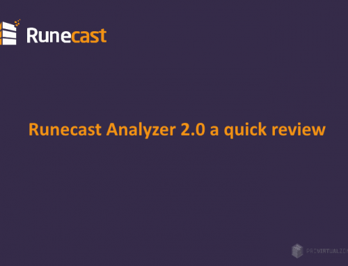 Runecast Analyzer 2.0 a quick review