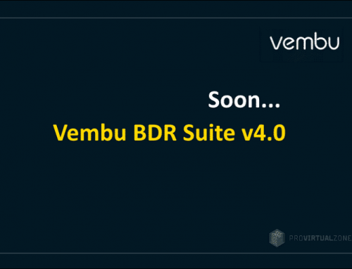 New Vembu BDR Suite v4.0 will be out soon