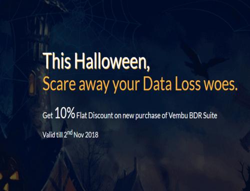 Vembu BDR Suite Halloween special offer