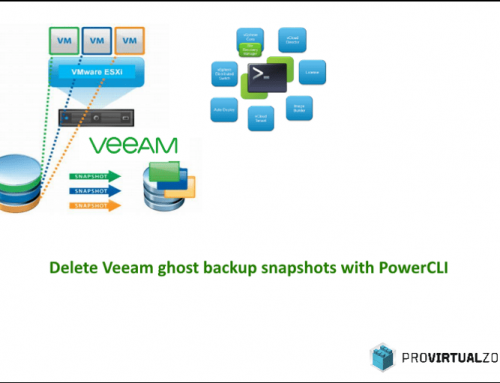 Delete Veeam ghost backup snapshots with PowerCLI