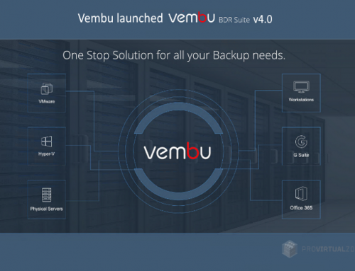Vembu has released is BDR Suite v4.0 and is now Generally Available(GA)