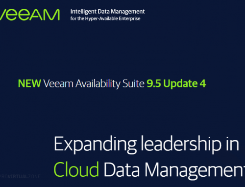 Veeam Availability Suite 9.5 Update 4 available on 22nd January