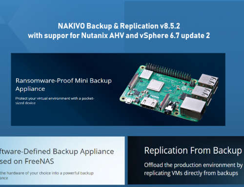 NAKIVO Backup & Replication v8.5.2 with VMware vSphere 6.7 Update 2 Support