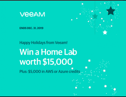Win with Veeam a Home Lab worth $15,000