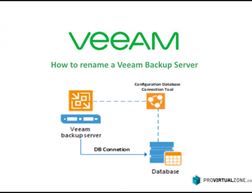 How to rename a Veeam Backup Server