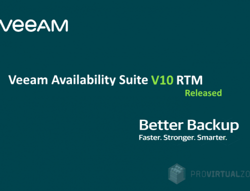 Veeam Availability Suite v10 RTM released