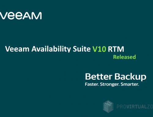 Veeam Availability Suite v10 RTM released