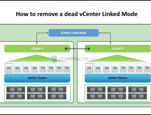 How to remove a dead vCenter Linked Mode