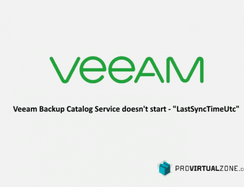 "Veeam Backup Catalog Service doesn't start – ""LastSyncTimeUtc"""