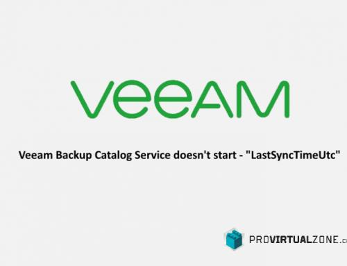 "Veeam Backup Catalog Service doesn't start – ""LastSyncTimeUtc"""