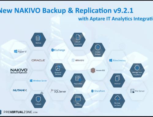 New NAKIVO Backup & Replication v9.2.1 with Aptare IT Analytics Integration