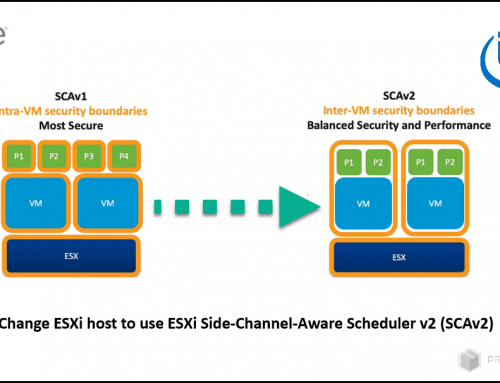 Change ESXi host to use ESXi Side-Channel-Aware Scheduler v2 (SCAv2)