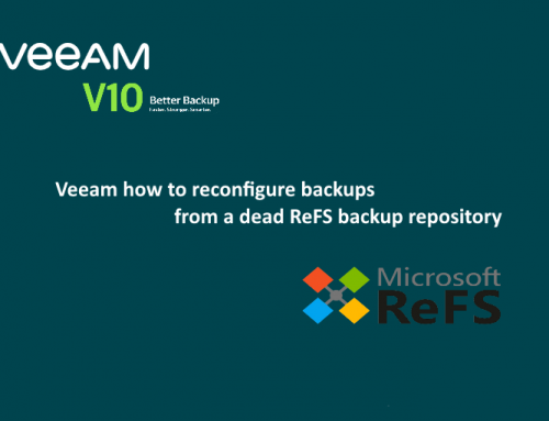 Veeam how to reconfigure backups from a dead backup repository