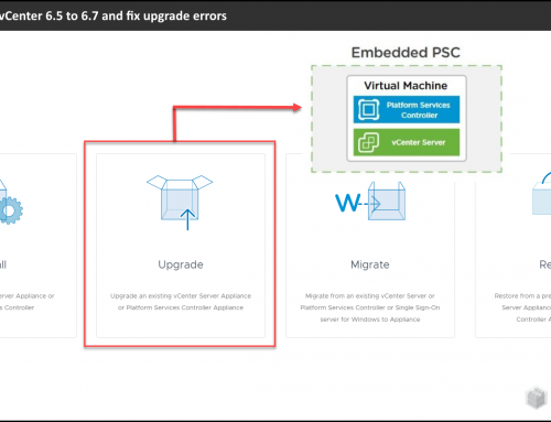 How to upgrade vCenter 6.5 to 6.7 and fix upgrade errors