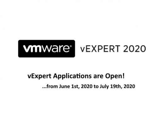 vExpert 2020 Second Half is now open