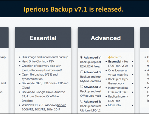 Iperius Backup version 7.1 is out