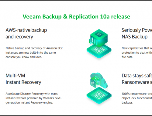 Veeam Backup & Replication 10a release