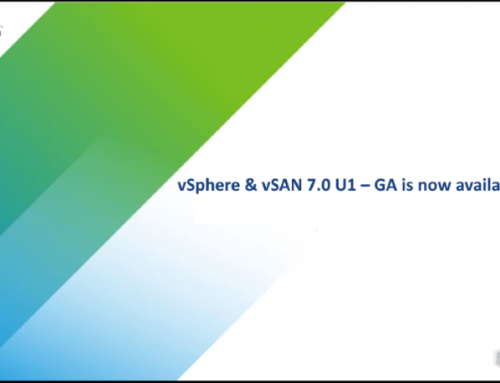 vSphere 7.0 U1 – GA is now available for download