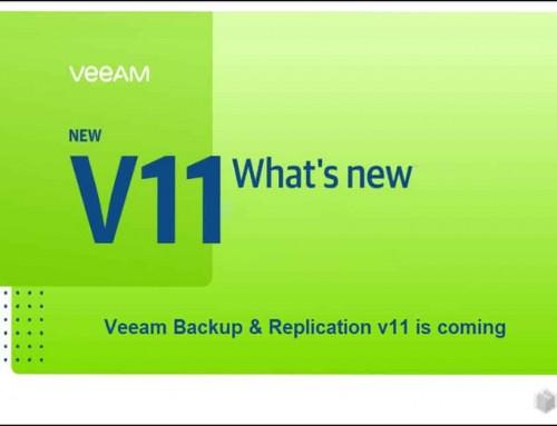VeeamBackup &Replication v11 is coming