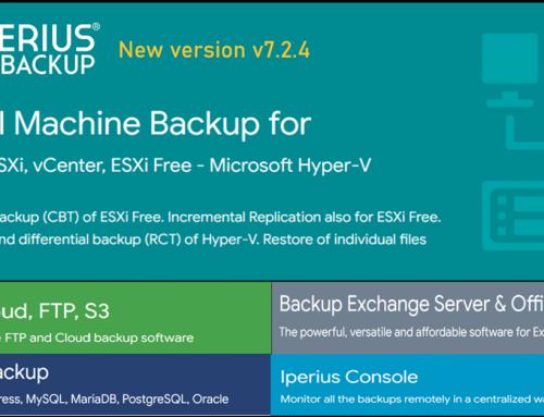 New Iperius Backup 7.2.4