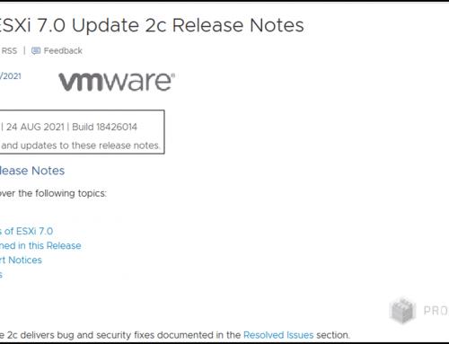 VMware finally launched ESXi 7.0 Update 2c