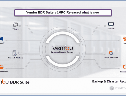 Vembu BDR Suite v5.0 RC Released what is new