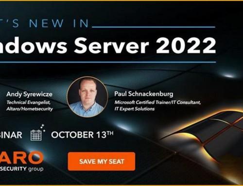 Altaro webinar: What's New in Windows Server 2022